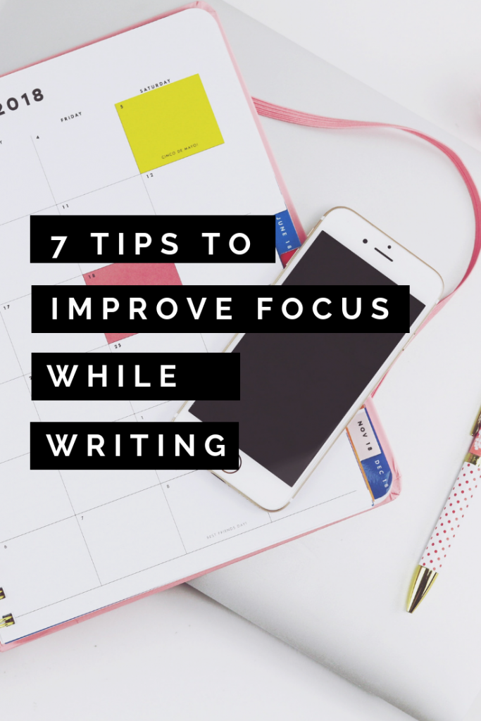 focus while writing